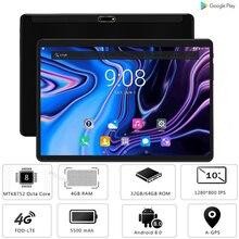 10-дюймовый планшетный ПК, 4 Гб ОЗУ, 64 Гб ПЗУ, Восьмиядерный процессор MTK8752, ОС Android 8,0, 3G, 4G, LTE, 1280*800, ips, телефон, планшет, 10 дюймов+ подарки
