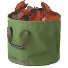 Collapsible Garden Bag Canvas Reusable Gardening Bag Water Resistant Garden Waste Bag For Sack Yard