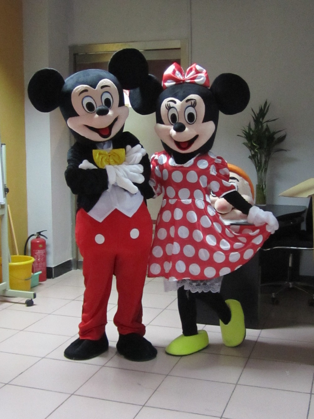 BING RUI CO  High Quality Minnie Mascot Costume Skirt. Shoes. Gloves Minions Mascot Costume Gloves, Shoes, Free Shipping