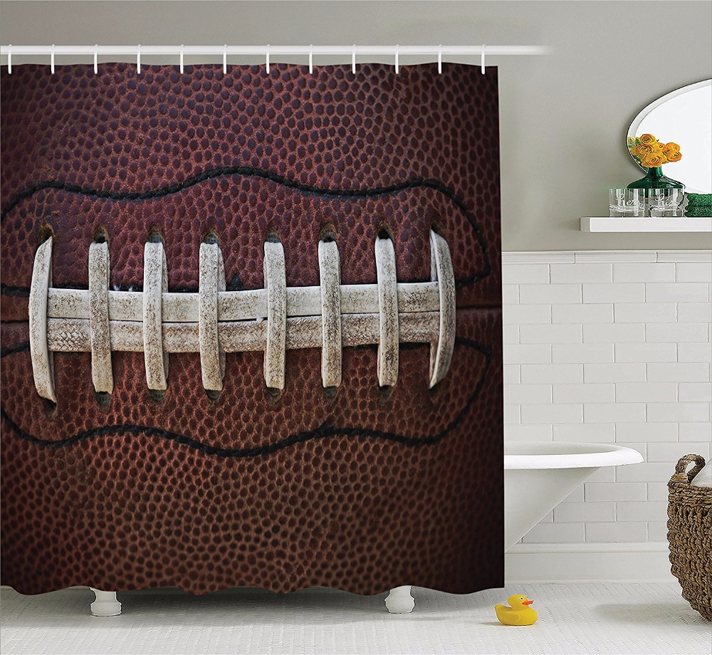 High Quality Arts Shower Curtains American Football Themed