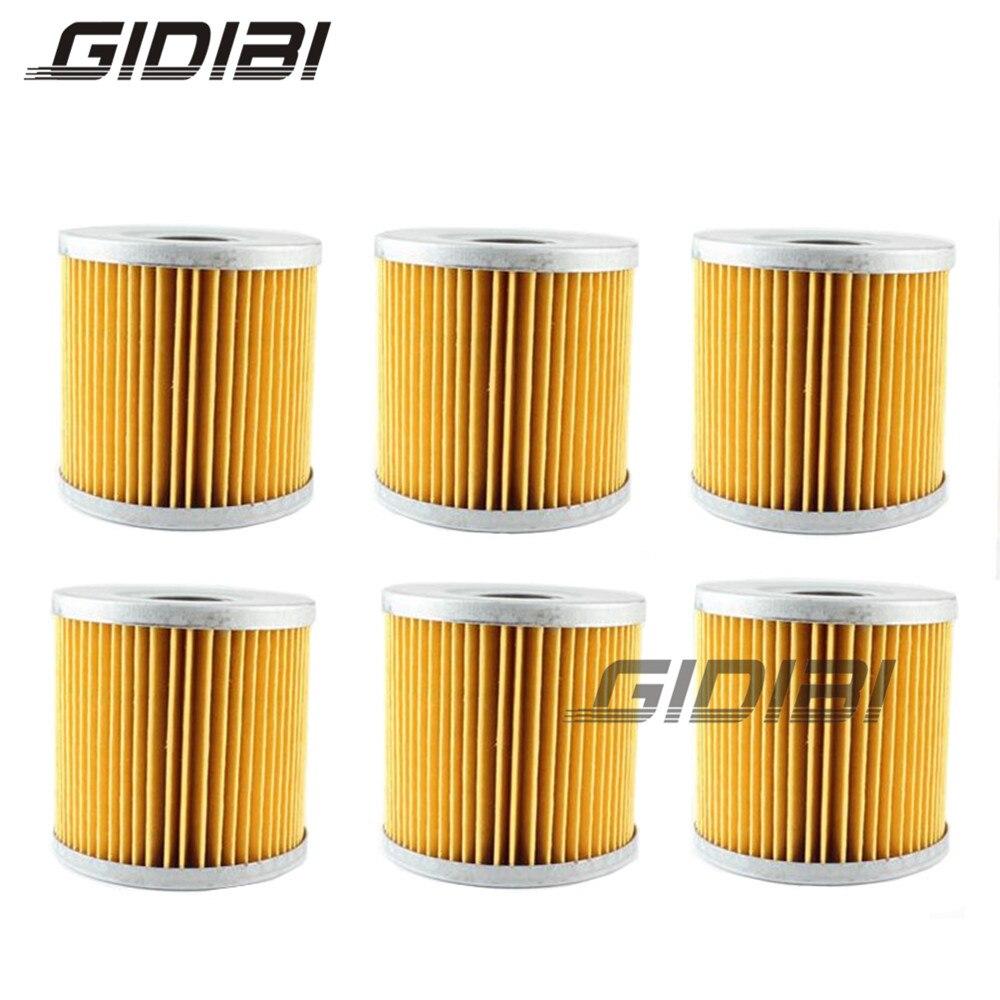 For SUZUKI GS500 GS550 GS650 GS700 GSF400 Bandit GSX1100 GSX250 GSX400 GSX550 GSX750 Oil filter 6 PCS