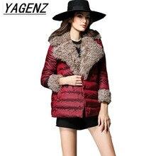 Фотография  Winter New Women Upscale Short Down Cotton Jacket Fashion Cloak Type High Quality Outerwear Loose Fur Collar Warm Overcoat B148