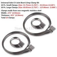 NICECNC 10PCS 20PCS Stainless Steel Drive Shaft CV Boot Clamp Kit Universal Adjustable AXLE CV Joint