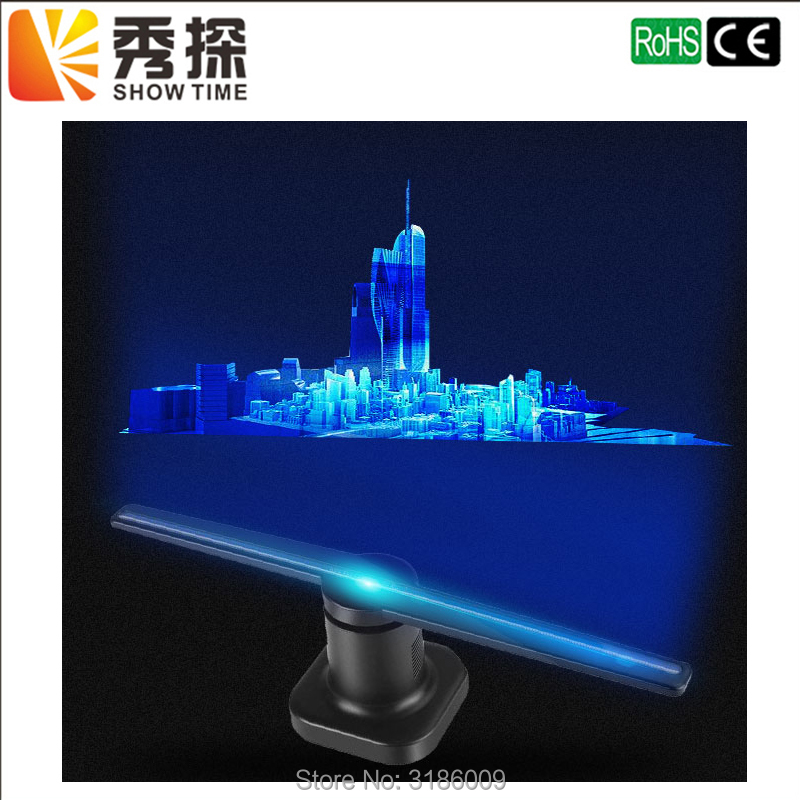 FreeShipping LED Holographic Projector Portable Hologram Player 3D Holographic Dispaly Fan Unique Hologram Projector Black/White 24 dark gray gray white holographic rear projection screen transparent rear projector film indoor hologram advertising