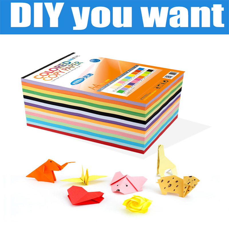 100 Sheet A4 Colorful Copy Paper 80G 20 Colors Can Choose for DIY Handmade Office 2