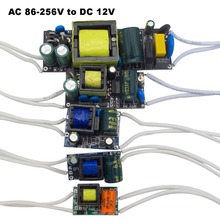 Fonte de alimentação, dc 12v led driver 300ma 450ma 600ma 1a 2a para tira de led holofote ac 110v transformador 220v