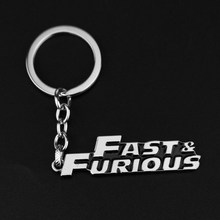 The Fast and The Furious 8 Prata moda fast & furious Toretto Pingente chaveiro de Metal Chaveiro llavero Jóias Fãs Presente(China)