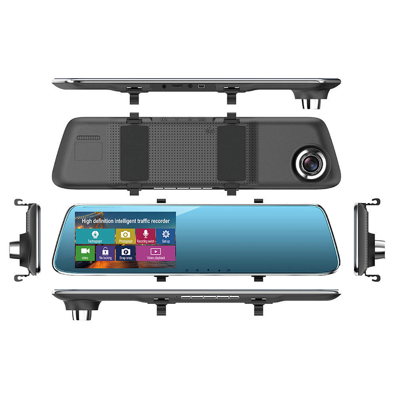 Touch Screen Car DVR Full HD 1080P Dual Lens Camera Rearview Mirror Video Recorder Dash Cam Auto Camera Recorder Sensor цена