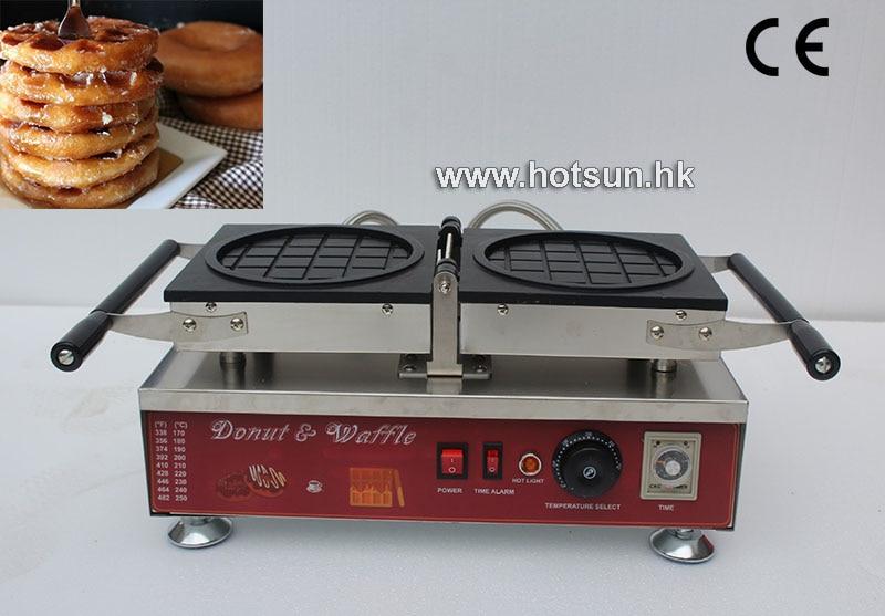 Commercial Non-stick 110V 220V Electric Reversible Donut Waffle Krispy Kreme Waffle Iron Maker Machine commercial non stick 110v 220v electric 6pcs waffle pancake maker iron machine