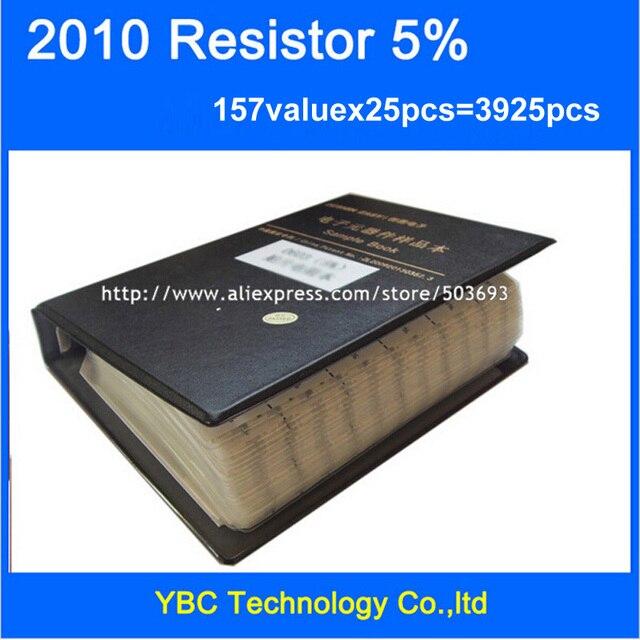 Бесплатная доставка 2010 SMD образец резистора книга 5%, 157valuesx25 шт. = 3925 шт. комплект резисторов 0R ~ 10 м