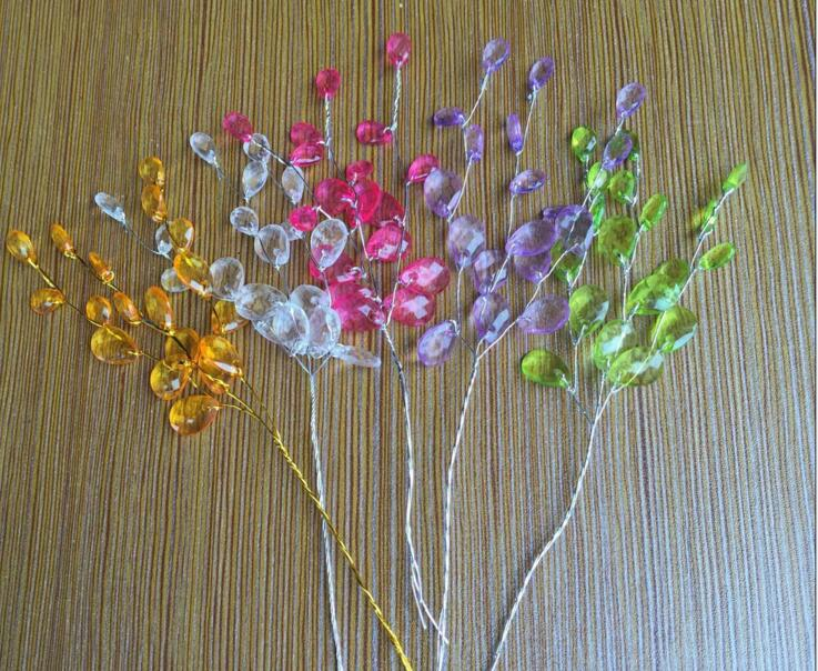 30pcs 15cm Crystals Garland For Bouquets Wedding Brida Hair Venue Decoration New