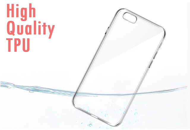 Esamday Ultra Mince Souple TPU Gel D'origine Transparent Cas Pour l'iphone 6 6 s 7 7 Plus 6 sPlus Crystal Clear Silicon Cover Téléphone Cas