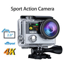 Boblov X6 4K Ultra HD Wifi 170degree Sport Action Camera Helmet Waterproof IP68 Camcorder Recorder+Remote Control+2pcs Battery