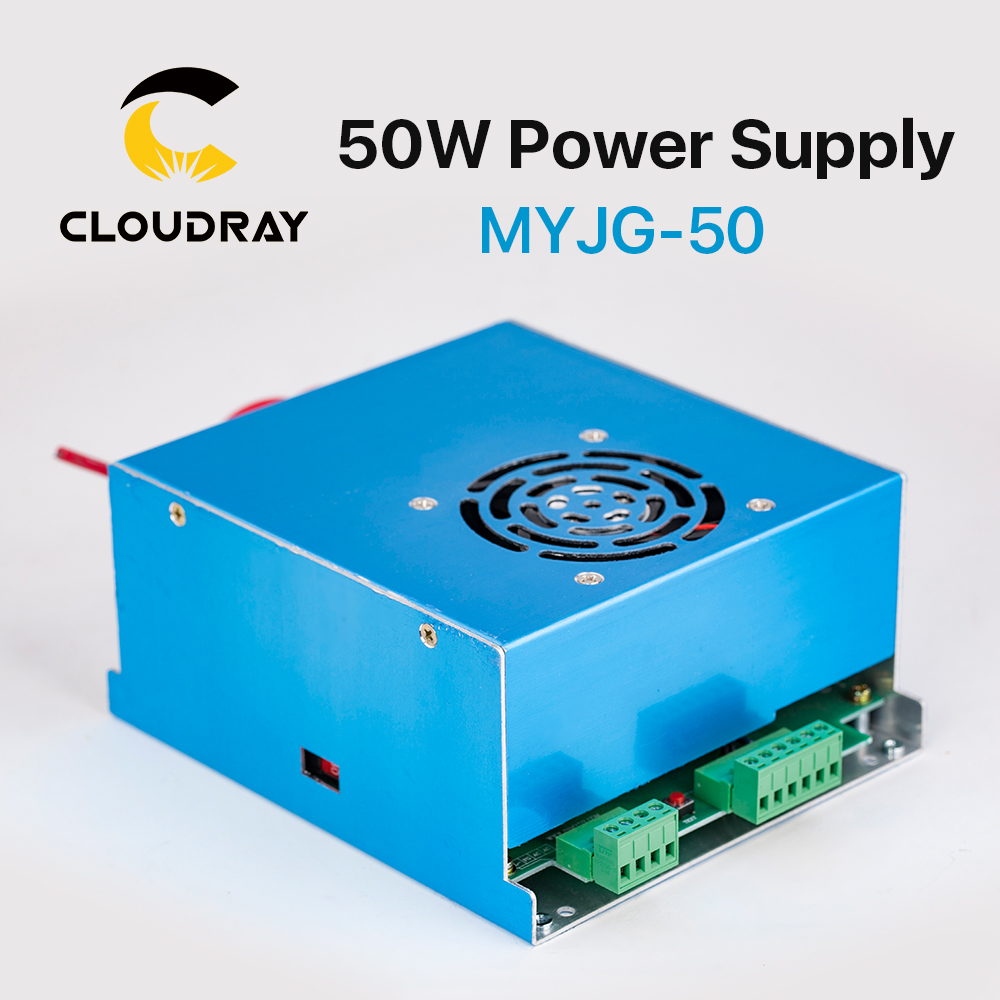 Cloudray 50W CO2 Laser Power Supply for CO2 Laser Engraving Cutting Machine MYJG-50 economic leetro mpc 6525a 6535 motion controller for co2 laser cutting machine upgrade of 6515