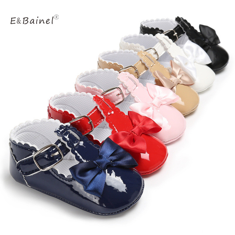 PU Leather Fashion Toddler Girls Shoes Cute Anti-slip Princess Baby Shoes 0-18M Baby Moccasins
