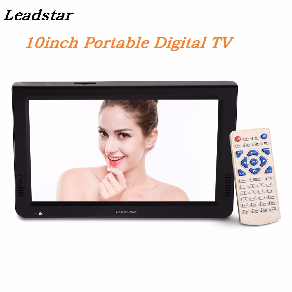 LEADSTAR 10inch Portable TV DVB-T2 Digital Analog Television HD 1024×600 Resolution TV TF Card  USB Audio Video Playback Car TV