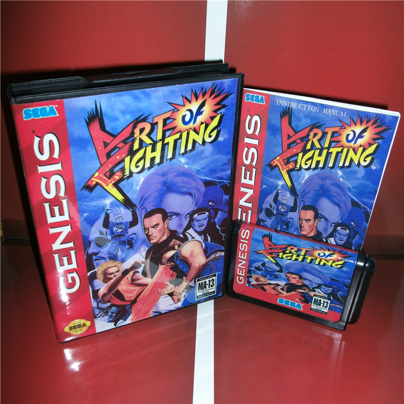 Art Of Fighting Us Cover With Box And Manual For Sega Megadrive Genesis Video Game Console 16 Bit Md Card Art Of Fighting Art Ofarts Cover Aliexpress