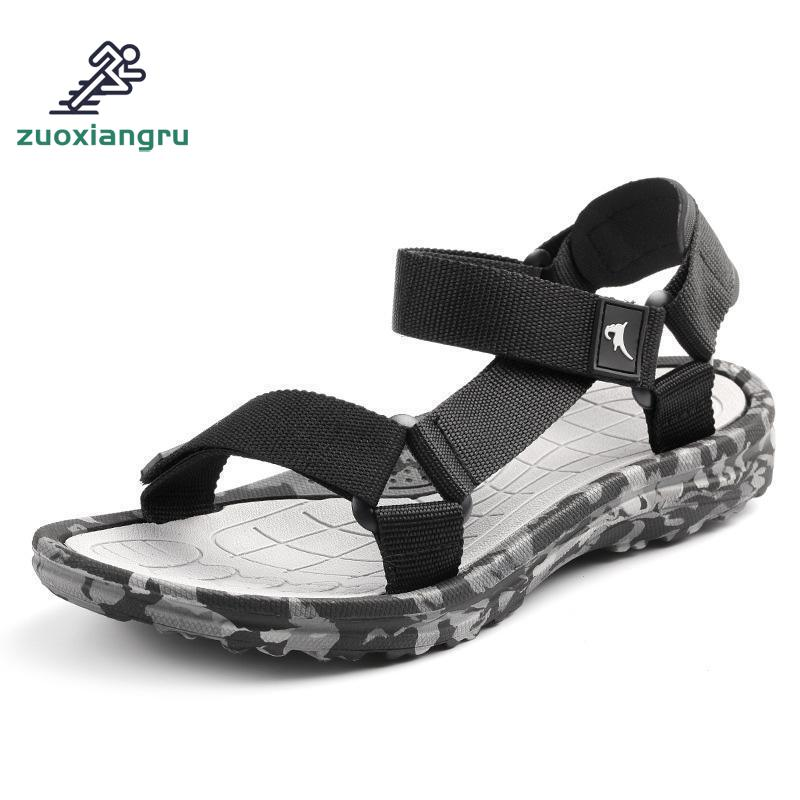 Summer Sport Men Outdoor Sandal Upstream Shoes Male Camouflage Beach Shoes Walking Flip Flops Gladiator Sandals Beach Shoes