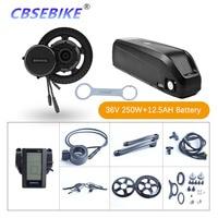 Bafang bbs01b mid drive motor kit 36v250w bicicleta elétrica conversão com bateria 36 v 12.5ah Motor p/ bicicleta elétrica     -