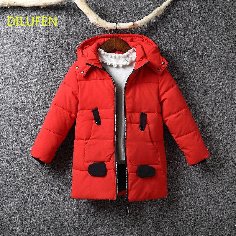 de694d7bc2de Childrens Winter Jackets Duck Down Padded Children Clothing 2018 Big ...