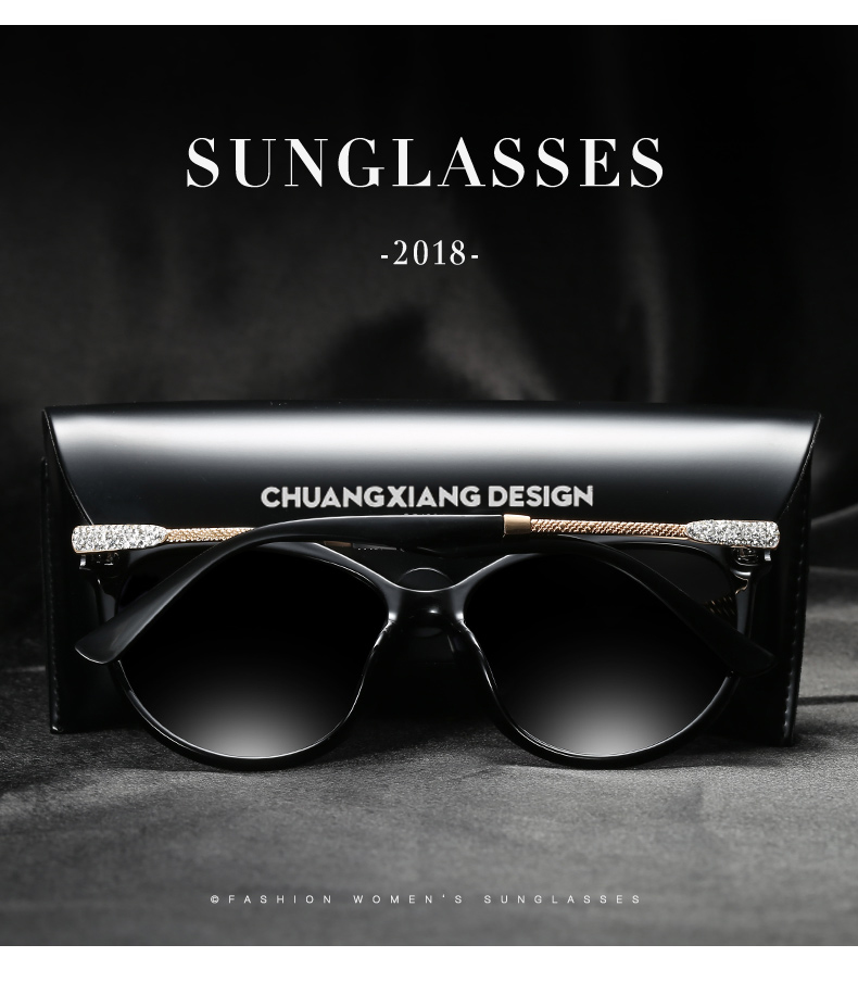 Fashion Cat Eye Polarized Sunglasses DH lens Women Brand Designer diamond Butterfly Sun glasses Female Drivering Goggle Q1809 in Women 39 s Sunglasses from Apparel Accessories