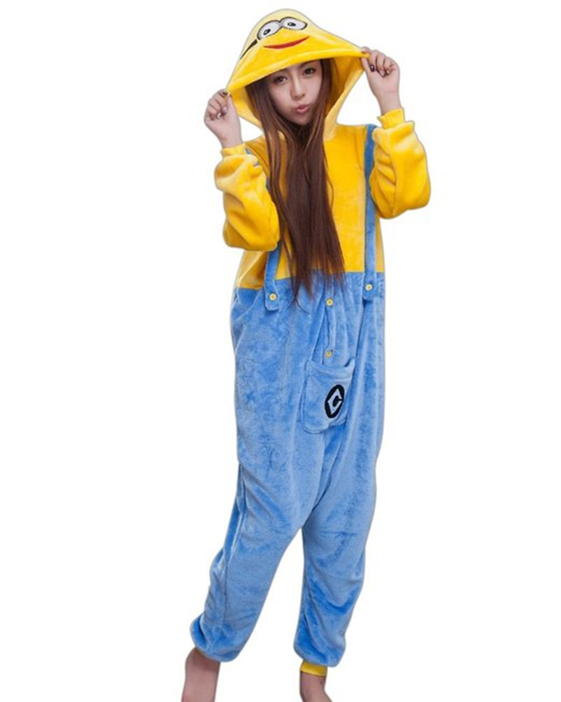 Anime Pijama Cartoon Unisex Adult minions Pyjamas Cosplay Costume Animal Onesie Sleepwear Animal pajamas