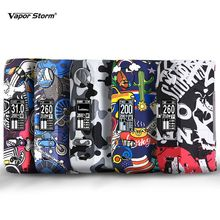 Vapor Storm Storm230 Bypass 200W VW TCR Electronic Cigarette RDA RDTA Box Mod Vapes Fashion Mod Support Dual 18650 Battery