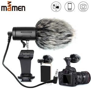 Image 1 - Mamen Telefoon Microfoon Mini Draagbare 3.5 Mm Condensor Telefoon Video Camera Interview Microfoon Met Mof Voor Iphone Samsung Mic