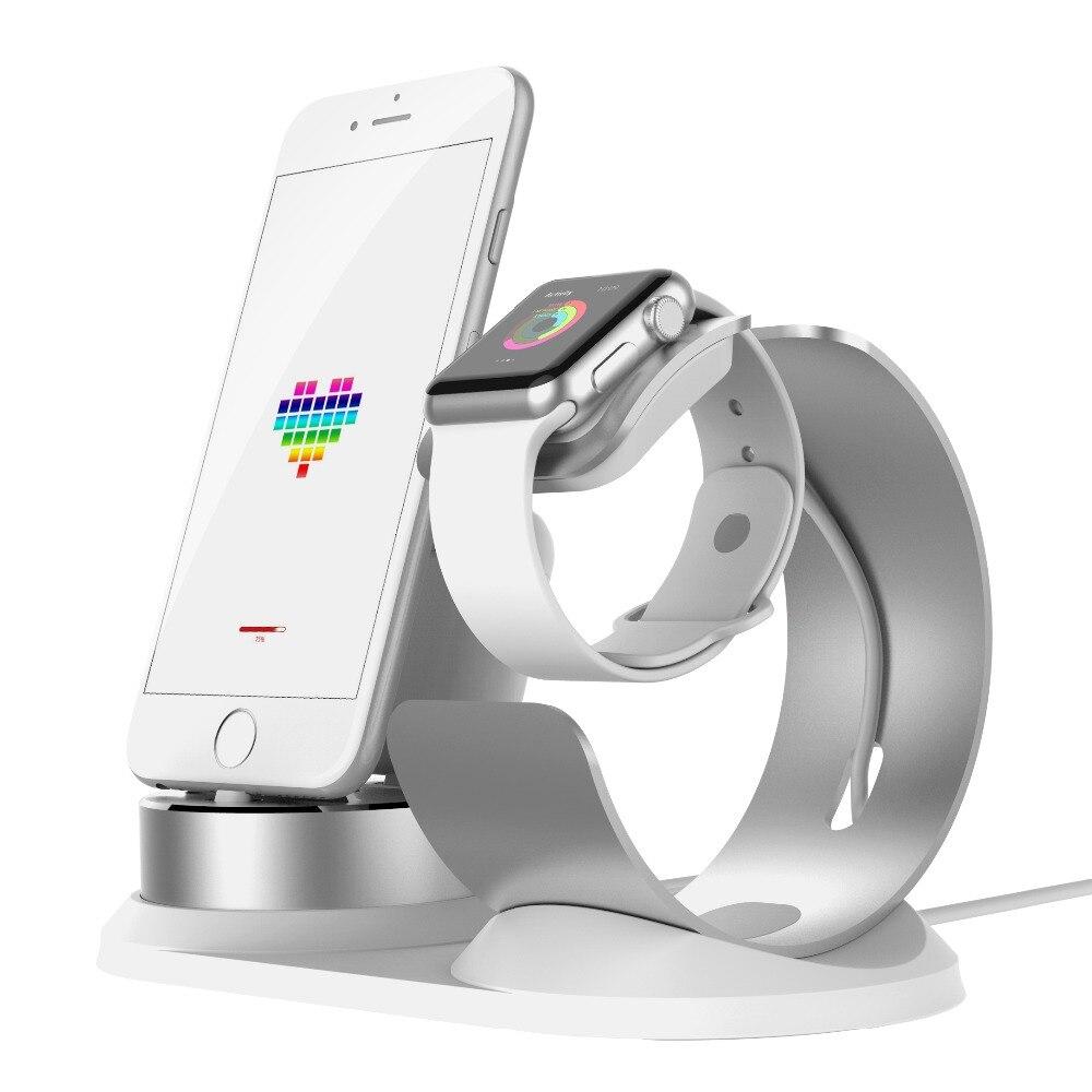 4 en 1 bricolage bureau chargement Dock pour Apple montre support Table Charge support pour téléphone Station pour iPhone X/8 P/7/6/SE chargeur pour Airpods