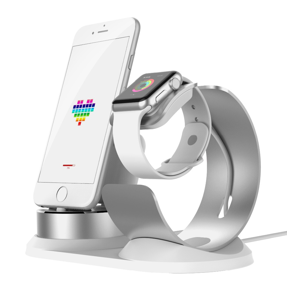 4 in 1 DIY Desk Charging Dock For Apple Watch Stand Table Charge Phone Holder Station for iPhone X 8P 7 6 SE Charger For Airpods in Phone Holders Stands from Cellphones Telecommunications