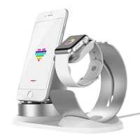 4 in 1 DIY Desk Charging Dock For Apple Watch Stand Table Charge Phone Holder Station for iPhone X/8P/7/6/SE Charger For Airpods
