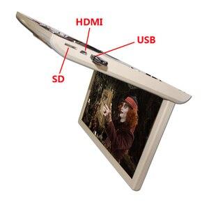 Image 5 - 19 дюймовый монитор HD 1080P, потолочный ТВ для автомобиля, откидной монитор, MP5 плеер, поддержка USB/SD/HDMI/Sperker/IR/FM передатчик