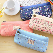 1x lovely  double zipper pencil case canvas stationery bagpencil bag kawaii stationery pencil case canvas pen bag school цена