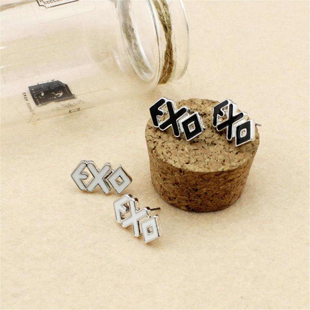 50791cecc Wholesale k-pop EXO EXO-K EXO-M XOXO collective mark Men or Women Stud  earrings FR465 FR466
