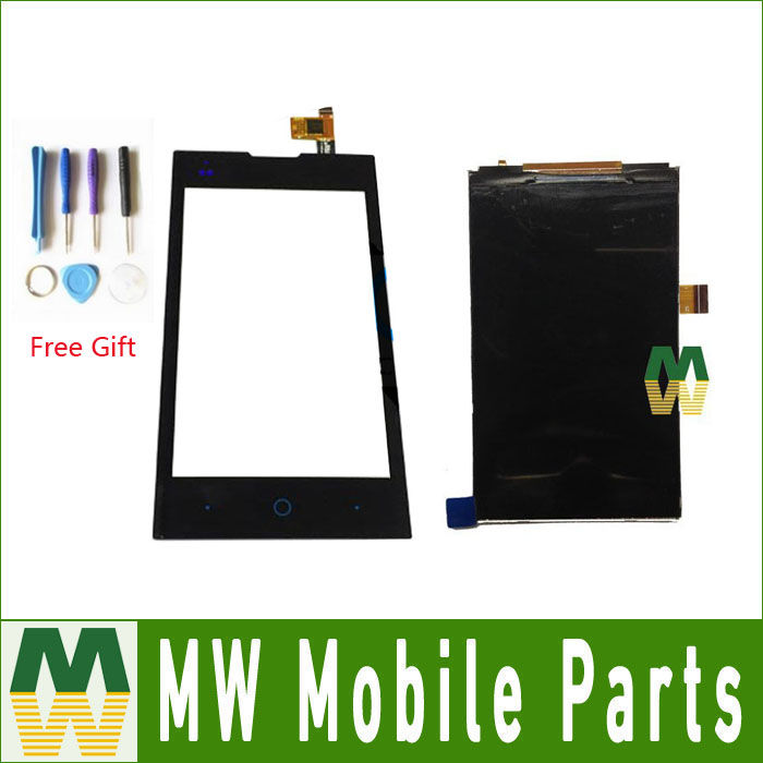1 PC/Lot For ZTE Kis 2 II Max V815W LCD Display + Touch Screen Seperate Replacement Part Black color with tools