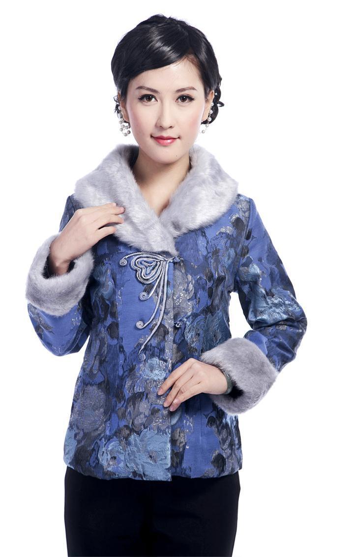 Moda clothing ladies invierno wadded la chaqueta de las mujeres chinas capa de l