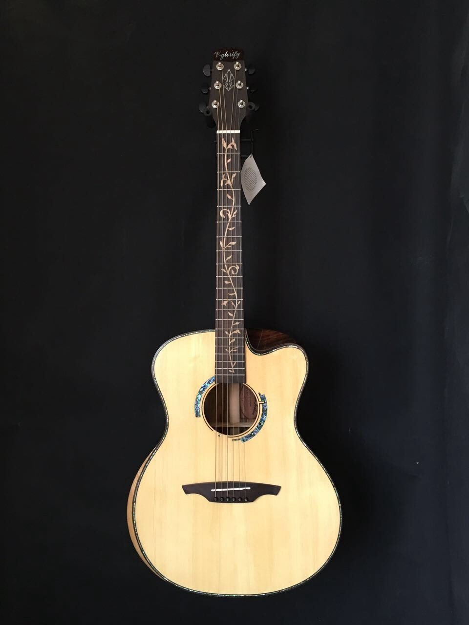 free shipping handmade solid wood acoustic guitar with case solid spruce top electric acoustic guitar free shipping free case