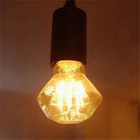 40w E27 220v Vintage Edison Light Bulb Glass Diamond Filament bubble Pack Of 10