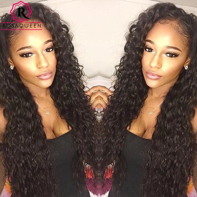Front Lace Wigs 250% Density Full Lace Human Hair Wigs For Black Women 7A Brazilian Wet And Wavy Brazilian Kinky Curly Lace Wig