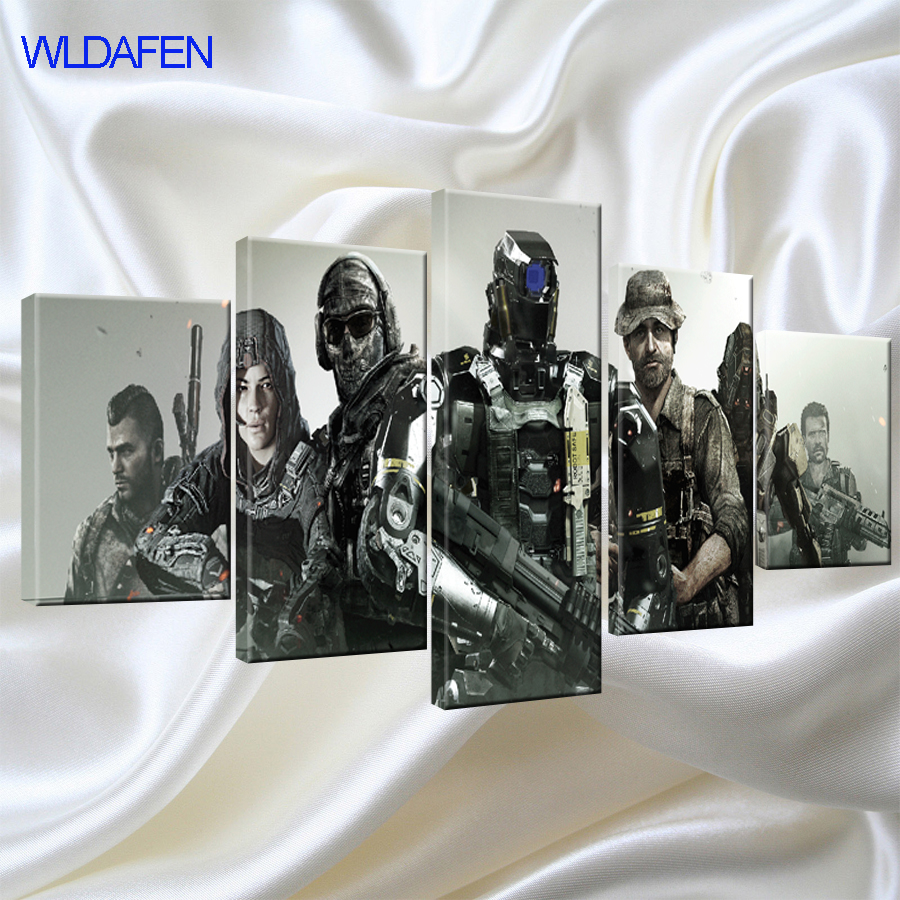 Wall Art Canvas Painting Modern Picture Call Duty Printed on Canvas Poster for Living Room Kids Room Home Decor Ready to Hang