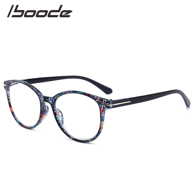 IBOODE Floral Round Reading Glasses Women Men Presbyopic Eyeglasses Female Male Hyperopia Eyewear Unisex Diopter Spectacles