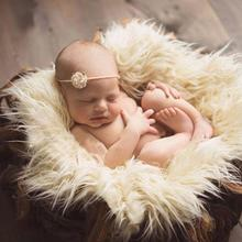 Faux Fur Photography Photo Prop Baby Newborn Wool Blanket Background Backdrop Rug Solid Photo Prop Background for kids baby rug baby photo props backdrop newborn photography soft fur quilt mat blanket rug