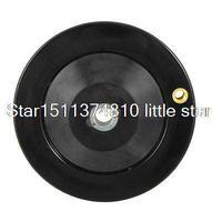 12mm X 125mm 26mm Height Black Ripple Hand Wheel Black For Milling Machine