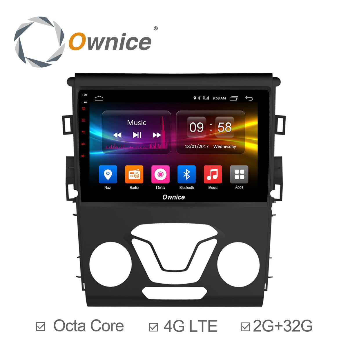 Ownice C500+ Octa core Android 6.0 2GB RAM 32G ROM CAR GPS DVD player FOR FORD MONDEO 2013-2017 car audio stereo Multimedia GPS