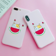 Coque for iPhone X Case Cute cat Painted Phone Cover Funda on 10 6 6S 7 8 Plus Women Korean Style