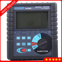 Cheaper ETCR3000B Digital earth resistance tester with 4-pole micro-processing technology earth resistance tester