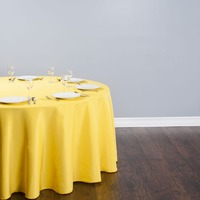10Pcs Gold Round 120 Polyester Tablecloth For Wedding Party Banquet Decoration Hotel Supplies Free Shipping