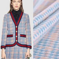 Houndstooth Woolen Wool Jacket Coat Fabric Cloth Wool Plaid Coat Cloth Free Shipping