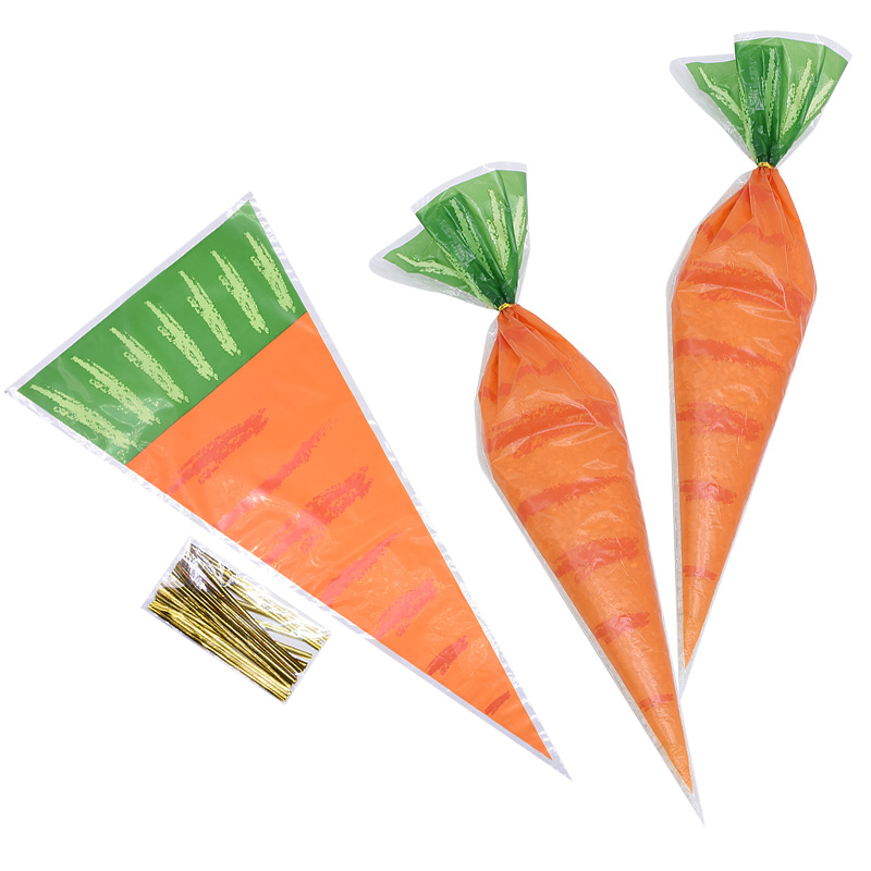 20Pcs Easter Carrot Candy Bag Easter Bunny Rabbit Gift Bag Candy Cones Transprant Plastic Bag Kids Birthday Party Decoration20Pcs Easter Carrot Candy Bag Easter Bunny Rabbit Gift Bag Candy Cones Transprant Plastic Bag Kids Birthday Party Decoration