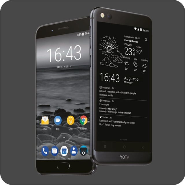 Global version Yota 3+ Yotaphone3+ 64G/128G Android8.1OctaCore DualScreen 5.5 2